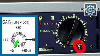 Ganancias en mezcladora y en amplificador